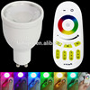 Top quality led light 2.4g RF wireless remote&phone controlled hanging led lights rgbw smart lighting with gu10 4W
