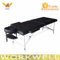 Workwell de aluminio cama de masaje portátil Kw-T3723