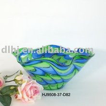 Phoenix Murano Art Glass Vases in Green and Blue