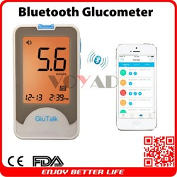 Cloud bluetooth smart glucometer compatible both IOS and Android smart phones