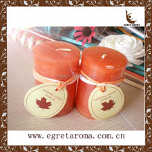 2014 hot selling high quality fashion pumpkin painted Halloween gifts pillar candle