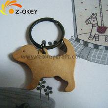 Custom Wooden Animal Promotional Keychain Pendant ( wood Art/crafts in laser-cut &