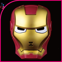 Children's toys cartoon with lamp glowing iron man mask