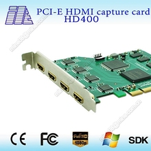pci-e Linux hdmi capture card, 4K Ultra-HD HDMI Capture card, 4 channel input
