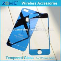 For Iphone 5 5G 5S, For Otao Mobile Phone Front+Back Mirror Tempered Glass Film Screen Protector Cover For Iphone 5 5G 5S
