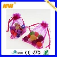 Mini Colorful Organza Gift Drawstring Bag Pouch