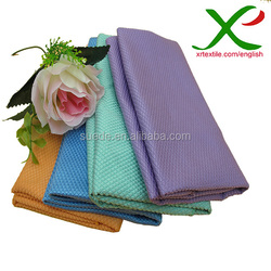 Kintted Soft microfiber lattice car cleaning cloth