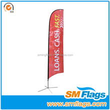 Flying Style and Printed Type New Design Good Quality Hot Selling Advertising Beach Flags