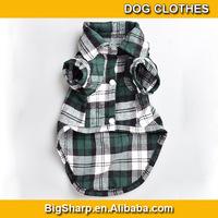 100pcs Fashion Favorites Compare cotton pet Plaid Shirt for Dogs, Doggie Blouse, Scotland, Wholesale dog clothes DC-006