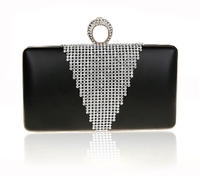 Top Quality Evening Bags 2015 Finger Ring Crystal Fashion indian clutch purses wholesale