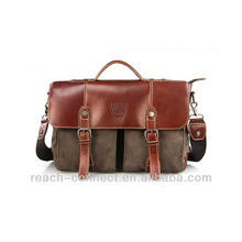 canvas + leather men s toiletry bag with high quality leather holdall bags for men