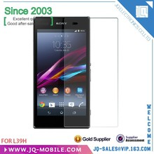 Gold supplier for more than 9 years 9H clear tempered glass screen protector for Sony Xperia Z1 l39H