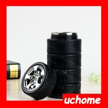 UCHOME New Novelty Car Wheel Coffee Cup Creative Stainless Steel Tire Cup