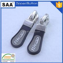 custom logo zipper rubber puller slider fashion design