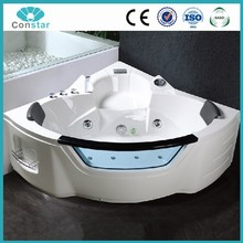 Corner Installation Type and Center Drain Location two person freestanding massage bathtub