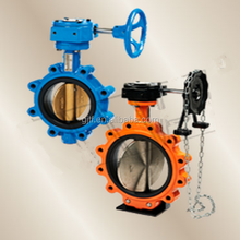 dn80 ductile iron body Butterfly Valves with epdm seat double half shaft