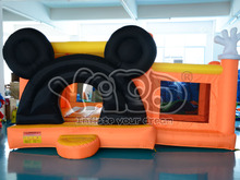 gorila mini de color naranja de mickey gorilas inflables puente piscina de bolas para el parque de atracciones