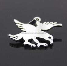 Customized shape stainless steel eagle pendant