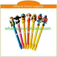 2015 new product animal shaped polymer clay ball pen ballpen oem