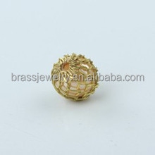Fashion New Design Bulk Wholesale Different Size Different Design Mesh Brass Beads Accessories