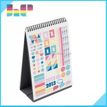 2016 Useful Reminder CMYK Desk Calendar Digital Printing Service/High Quality Book Printing Service