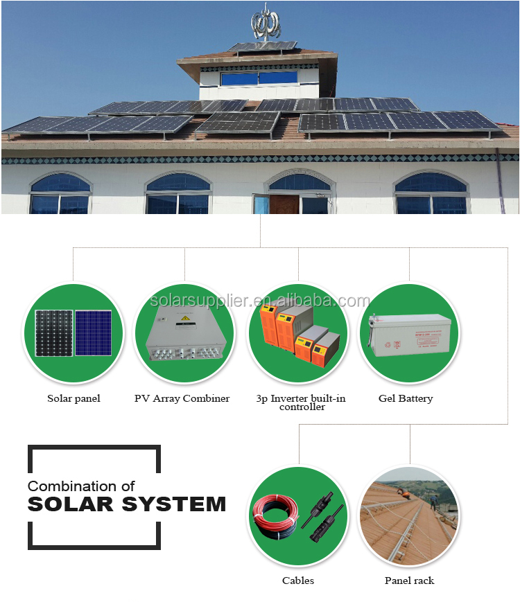 solares da grade / kit início painel solar 5KW 10kw15KW / módulos solares painel pv 10KW 15kw 20KW para uso doméstico