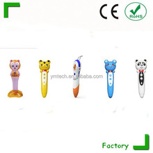 Smart reading pen,wireless reading pen with USB.learn chinese korean french for kids.he largest memories in English letters.