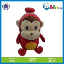 customized plush soft toy monkey with smile expression