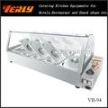 mesa de acero inoxidable parte superior calentador eléctrico de alimentos baño maría