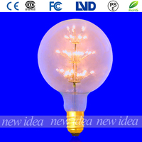 china supplier clear glass led bulbs, G125 3W global decorative bulb in bar