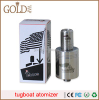 2014 goldvap hottest selling with High quality crown / quasar / rda tugboat atty clone