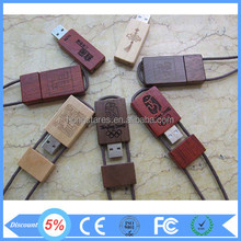 Wholesale buck cheap natural wood usb flash drive for promotional gift with free sample