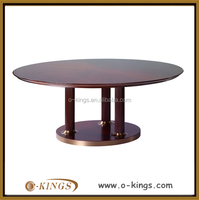 hotel wooden round table/ hotel solid wood round table