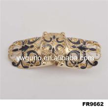 gold plate two finger ring flower ring