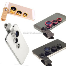 3 In 1 Universal fish eye lens for iphone 4 4s 5 5s 6 lens lente olho de peixe Macro Wide Angle fisheye lens ojo de pez