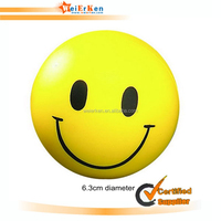 Dia 6.3cm pu smiley minion soccer ball promotional custom anti stress ball