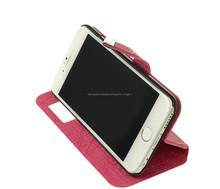 popular carcasa agenda / carcasa tipo libro / flip cover de piel pu para celular Iphone 6 4.7 pulgadas con ventana pequeña