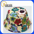 brillo de sol niños visera corta patrón deimpresión sombrero del cubo