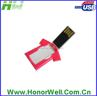 Promo Gifts the mini plastic shirt credit card usb flash drive with custom logo