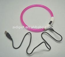 Silicone LED dog collars LED hund Halsbander CE&Rohs 500feet visibility