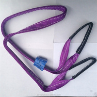 5T Polyester webbing strap with eye hook, heavy-lift PET webbing strap for lifting tire and oil can