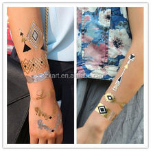 gold metallic tattoo with full color mixture
