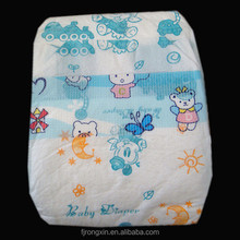 high quality disposable baby diaper in bales baby diaper factory