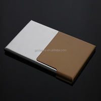 Golden Stainless Steel Semi-open Business Driver ID Credit Card Holder Protector Case Gift New