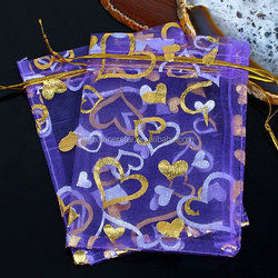 customed full color print jewelry organza pouch