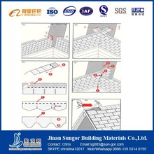Cost Saving Roofing Material Colorful Fiberglass Asphalt Shingle
