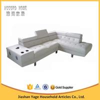 2015 New model modern living room furniture l shape fabric corner sofa 6005