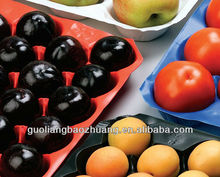 colorful fresh fruit and vegetable PP tray