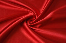 red satin fabric for wedding dress curtain and decoration