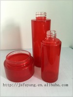 Red Clear Cosmetic Glass Packaging, Glass Cosmetic Container, Glass Cosmetic Bottle